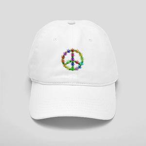 6acaf2b11f2 Rainbow Peace Marijuana Leaf Art Cap