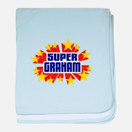 Graham the Super Hero baby blanket
