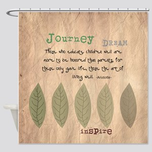 Retired Teacher Quote Aristotle Shower Curtain