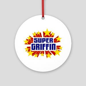 Griffin the Super Hero Ornament (Round)