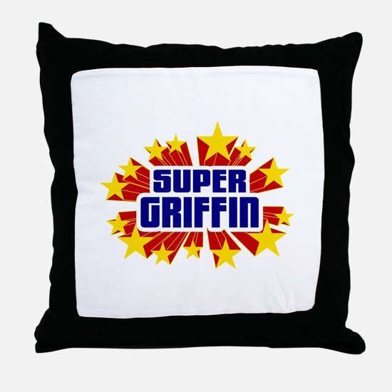 Griffin the Super Hero Throw Pillow