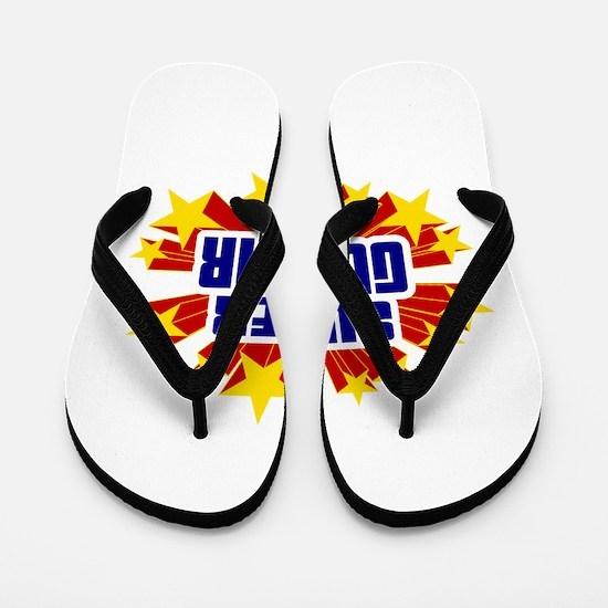 Gunnar the Super Hero Flip Flops