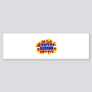 Gunnar the Super Hero Bumper Sticker