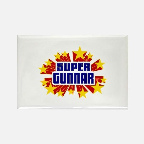 Gunnar the Super Hero Rectangle Magnet