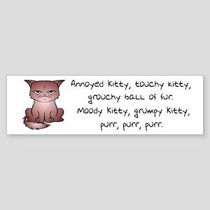 Grouchy Kitty Bumper Sticker