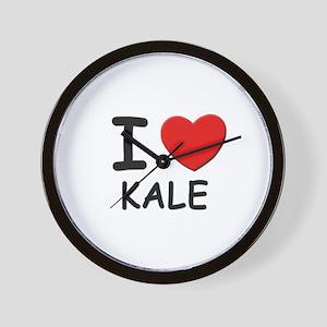 I love Kale Wall Clock