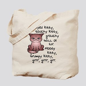 Grouchy Kitty Tote Bag