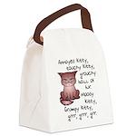 Grouchy Kitty Canvas Lunch Bag