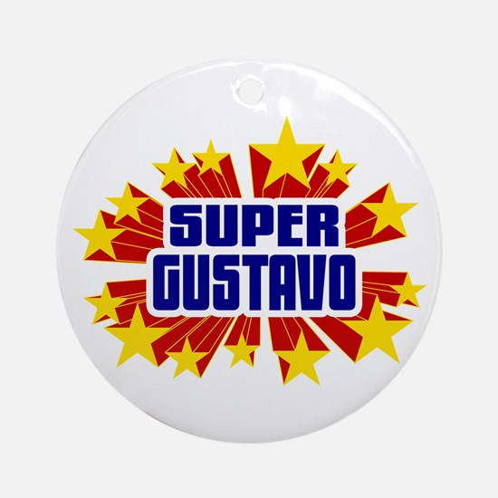 Gustavo the Super Hero Ornament (Round)