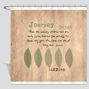 retired teacher INSPIRE PILLOW Shower Curtain