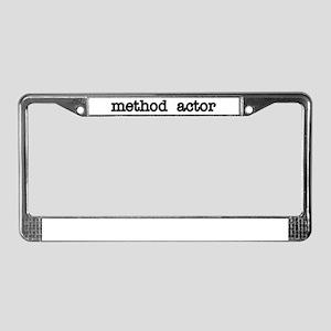 Method Actor License Plate Frame