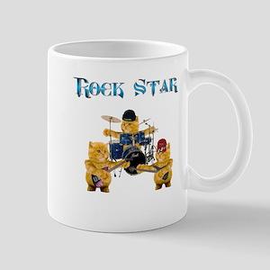 Rock Star Kitten Band Mug