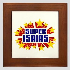 Isaias the Super Hero Framed Tile