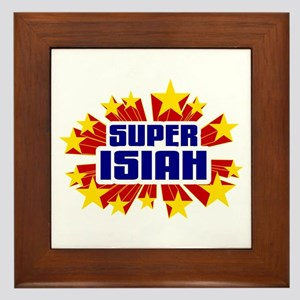 Isiah the Super Hero Framed Tile