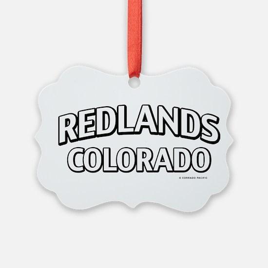 Redlands Colorado Ornament