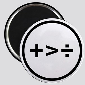 Addition is greater than division Magnets