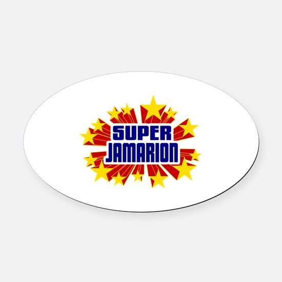 Jamarion the Super Hero Oval Car Magnet