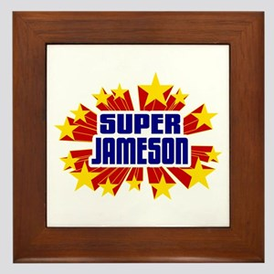 Jameson the Super Hero Framed Tile