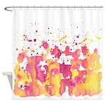 Pink banana burst Shower Curtain