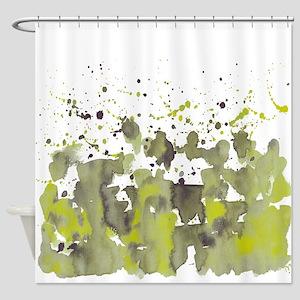 Chartreuse Burst Shower Curtain