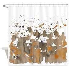 Bronze sepia burst Shower Curtain