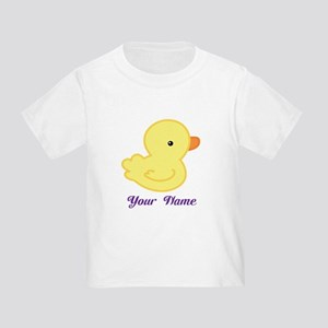 Personalized Yellow Duck Toddler T-Shirt