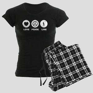 Beach Volleyball Women's Dark Pajamas