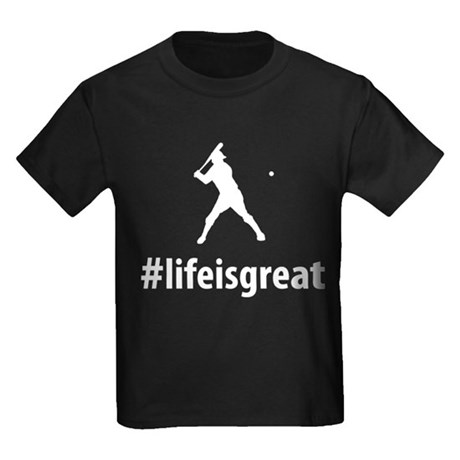 Baseball Batter Kids Dark T-Shirt