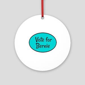 Vote for Bernie Round Ornament