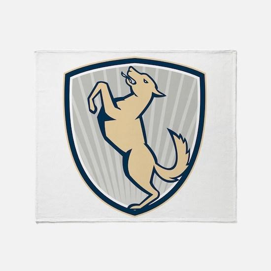 Prancing Dog Side Shield Throw Blanket