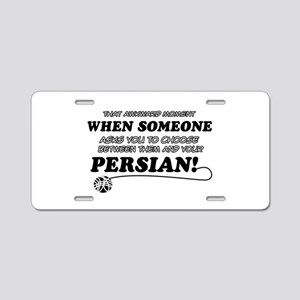 Funny Persian designs Aluminum License Plate