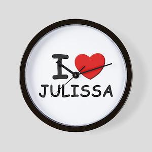 I love Julissa Wall Clock