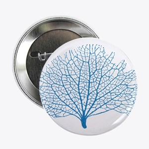 "blue sea fan coral 2.25"" Button"