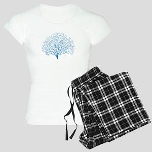 blue sea fan coral Pajamas