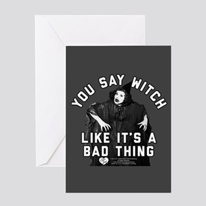 I Love Lucy You Say Witch Greeting Card