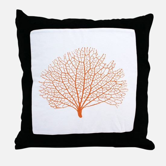 red sea fan coral Throw Pillow