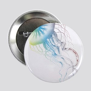 "colorful jellyfish silhouette 2.25"" Button"