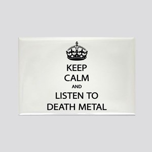 Keep Calm Listen to Death Metal Rectangle Magnet
