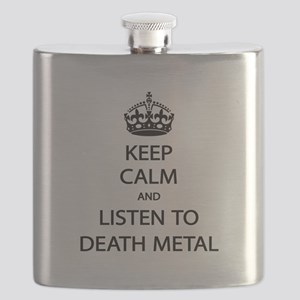 Keep Calm Listen to Death Metal Flask