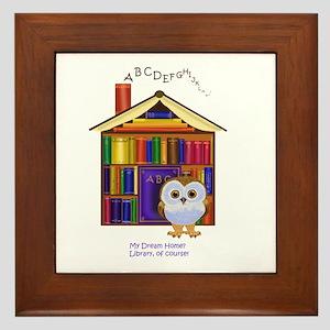 Dream Home - Library! Framed Tile