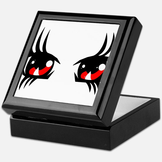 Red anime eyes Keepsake Box