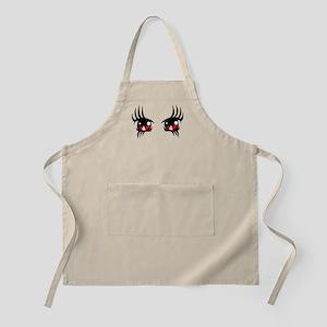Red anime eyes Apron
