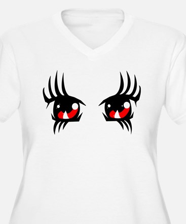 Red anime eyes Plus Size T-Shirt