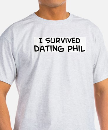 Survived Dating Phil Ash Grey T-Shirt