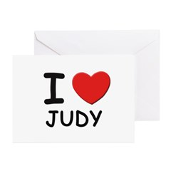 I love Judy Greeting Cards (Pk of 10)