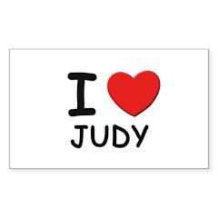 I love Judy Rectangle Decal