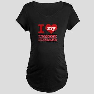 I love my Yemeni husband Maternity Dark T-Shirt