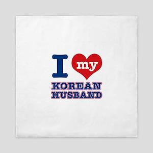 I love my Korean husband Queen Duvet