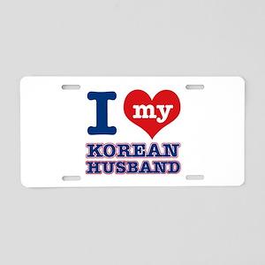 I love my Korean husband Aluminum License Plate