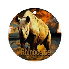 rhinoceros Ornament (Round)